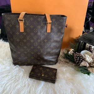 Pre owned authentic Louis Vuitton bag and wallet